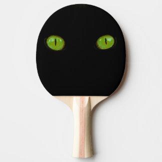 Green Cat Eyes - Ping Pong Paddle