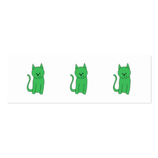 Green Cat. Mini Business Card