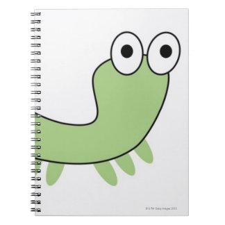 Green Caterpillar Notebook