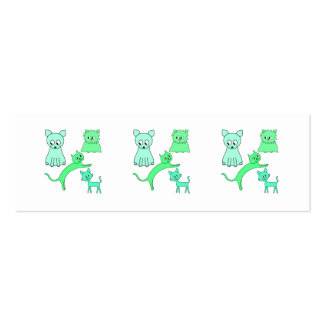 Green Cats. Mini Business Card