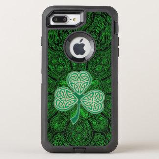 Green Celtic Clover Mandala Otterbox OtterBox Defender iPhone 8 Plus/7 Plus Case