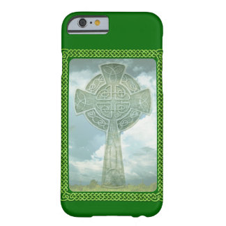 Green Celtic Cross And Clouds Barely There iPhone 6 Case