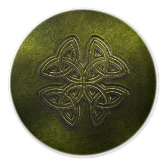 Green Celtic Door or Drawer Knob