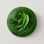 Green Celtic Dragon 2 Inch Round Button