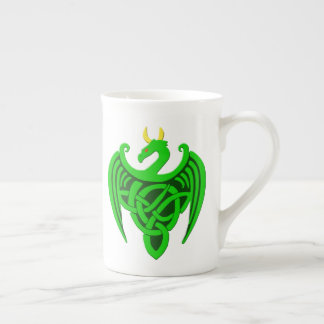 Green Celtic Dragon Bone China Mug