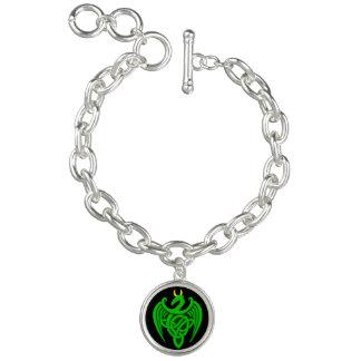 Green Celtic Dragon Bracelet