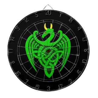 Green Celtic Dragon Kitchen Dartboard