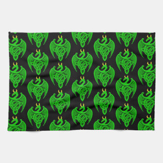 Green Celtic Dragon Kitchen Towel