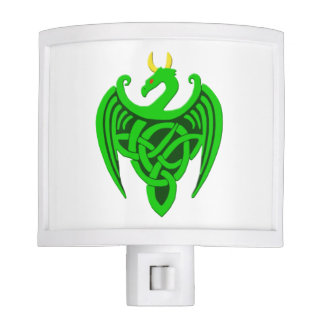 Green Celtic Dragon Night Light