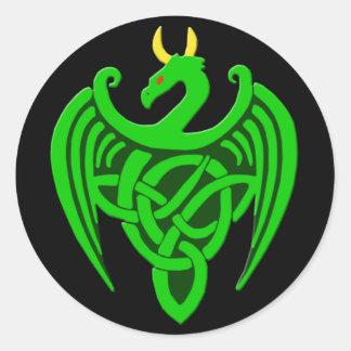 Green Celtic Dragon Stickers
