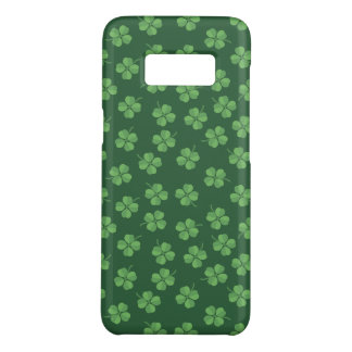 Green Celtic Irish Four Leafed Clovers St. Patrick Case-Mate Samsung Galaxy S8 Case