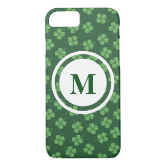 Green Celtic Irish Four Leafed Clovers St. Patrick iPhone 8/7 Case
