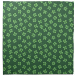 Green Celtic Irish Four Leafed Clovers St. Patrick Napkin
