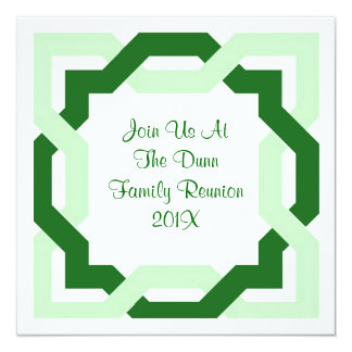 Green Celtic Knot Family Reunion Party Invitations