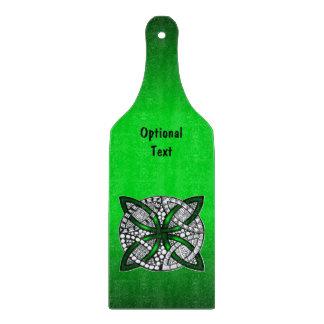 Green Celtic Knot Original Art Cutting Boards
