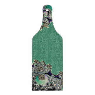 Green Celtic Mystical Fractal Cutting Boards