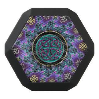 Green Celtic Mystical Mandala Black Bluetooth Speaker