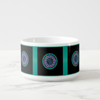 Green Celtic Mystical Mandala Chili Bowl