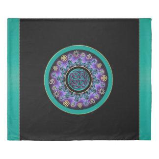 Green Celtic Mystical Mandala Duvet Cover