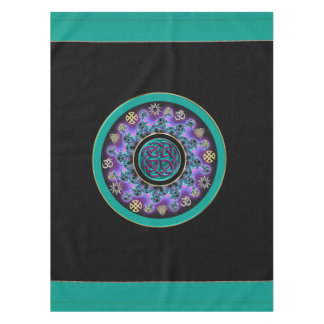Green Celtic Mystical Mandala Tablecloth