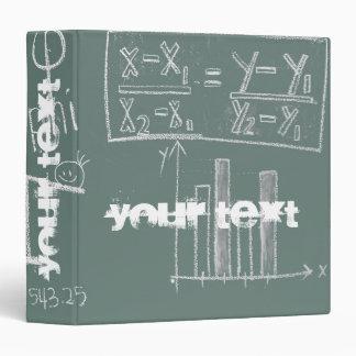 Green Chalkboard Algebra Binders