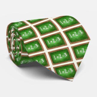 Green Chalkboard Slate Math Teacher Gift Tie