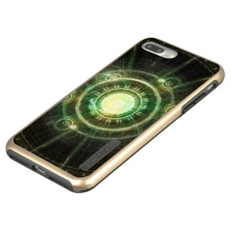 Green Chaos Clock, Steampunk Alchemy Fractal Manda Incipio DualPro Shine iPhone 8 Plus/7 Plus Case