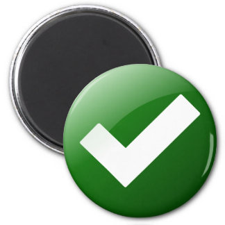 Green Check Mark Write Symbol Magnet