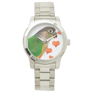 Green Check Parrot Bracelet Unisex Watch