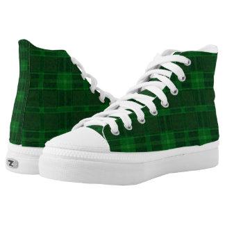 Green Checker Plaid Shoes