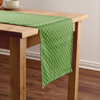 Green Checkered Pattern Short Table Runner