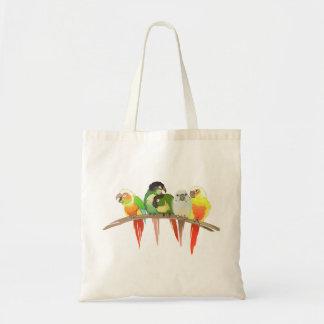 Green Cheek Conures Tote Bag