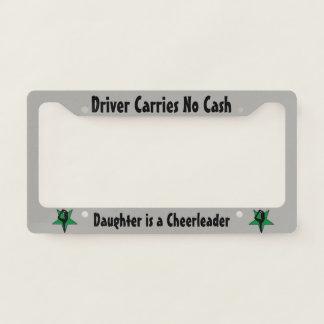 Green Cheerleader license plate holder License Plate Frame