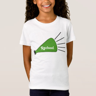 Green Cheerleader Megaphone T-shirt