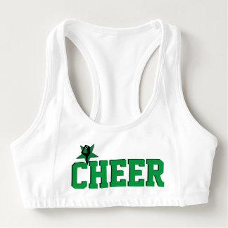 Green Cheerleader sports bra