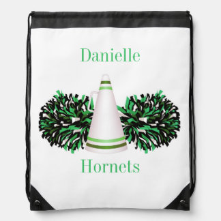 Green Cheerleading Cheer Personalized Backpack