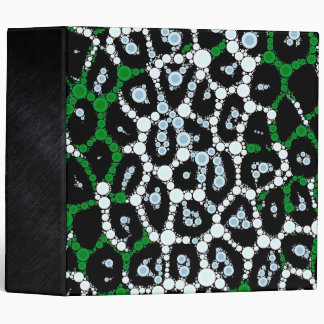 Green Cheetah Circle Abstract Binders
