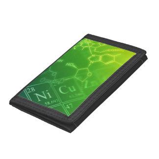 Green chemistry tri-fold wallet