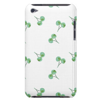 Green Cherry Pattern iPod Case-Mate Case