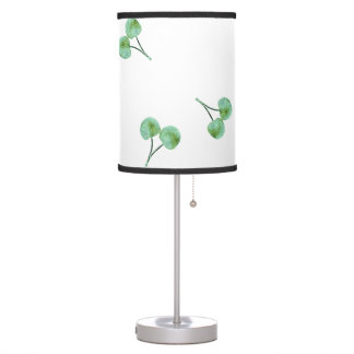 Green Cherry Pattern Table Lamp