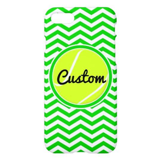 Green Chevron Custom Tennis iPhone 7 Case