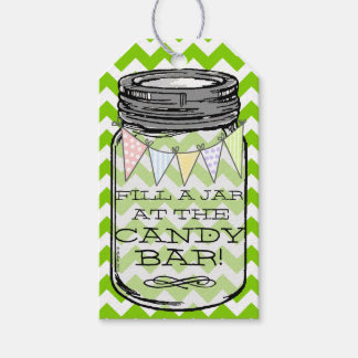 Green Chevron - Fill The Jar At Our Candy Bar Pack Of Gift Tags