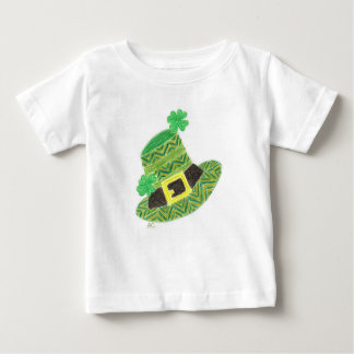 Green chevron leprechaun's hat infant t-shirt
