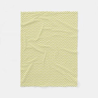 Green Chevron Pattern Fleece Blanket