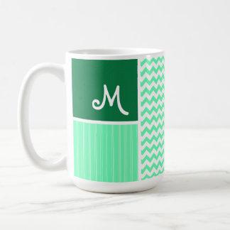 Green Chevron Pattern Mug