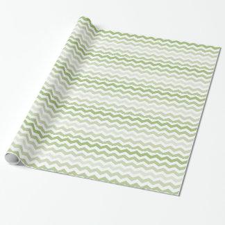 Green Chevron Pattern Wrapping Paper
