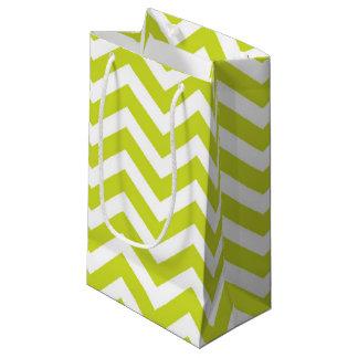 Green Chevron Stripe Pattern Small Gift Bag