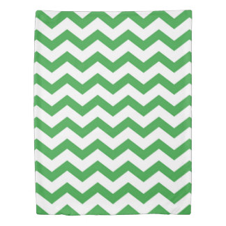 green chevron stripes duvet cover