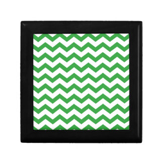 green chevron stripes gift box