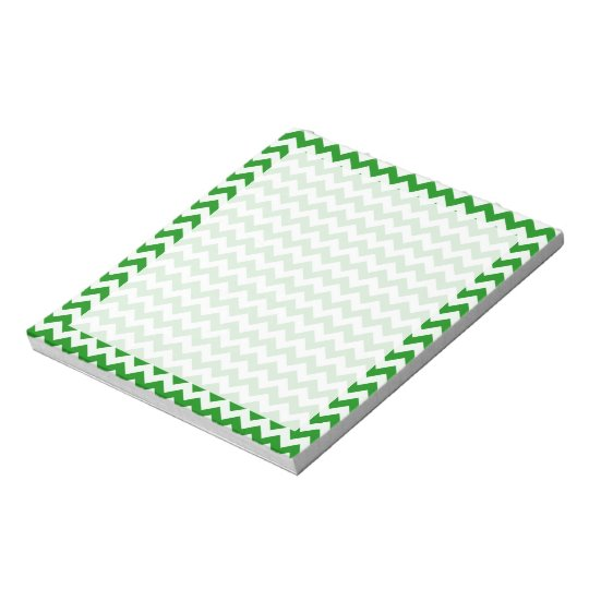 Green Chevron Stripes Notepad